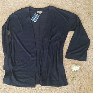 Loft Navy sheer open front cardigan XS